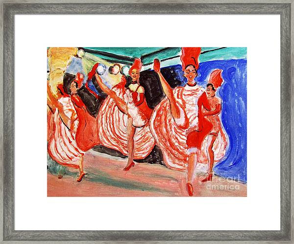 Famous French Cancan Framed Print