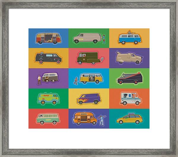 Famous Vans Framed Print