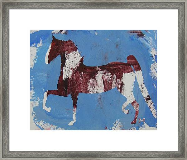 Framed Print featuring the painting Fancy Trotter by Candace Shrope