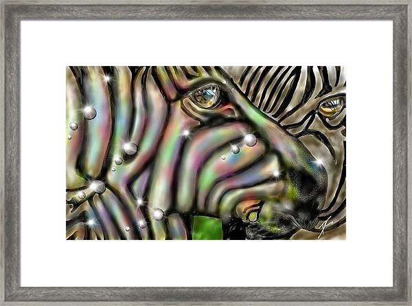 Fantastic Zebra Framed Print