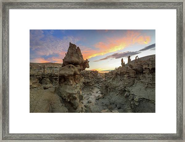 Fantasy Canyon Sunset. Framed Print