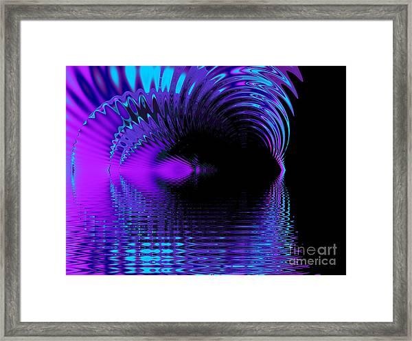 Fantasy Lake Fractal Framed Print