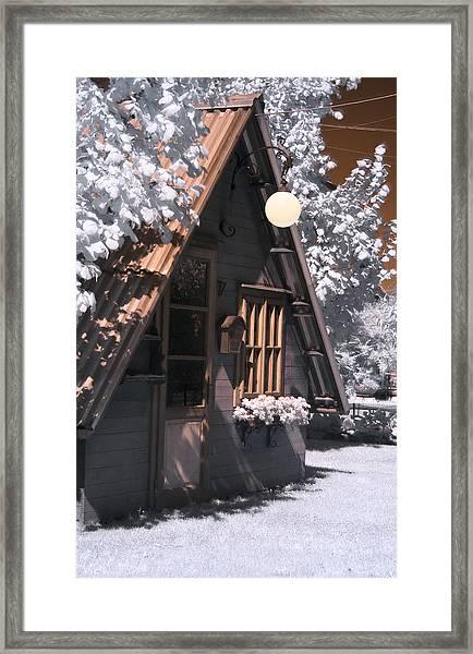 Fantasy Wooden House Framed Print