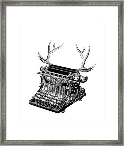 Fantasy Typewriter Framed Print