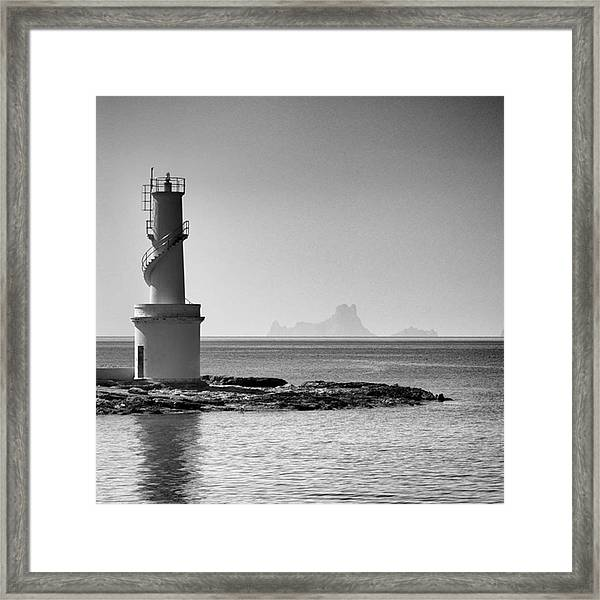 Far De La Savina Lighthouse, Formentera Framed Print