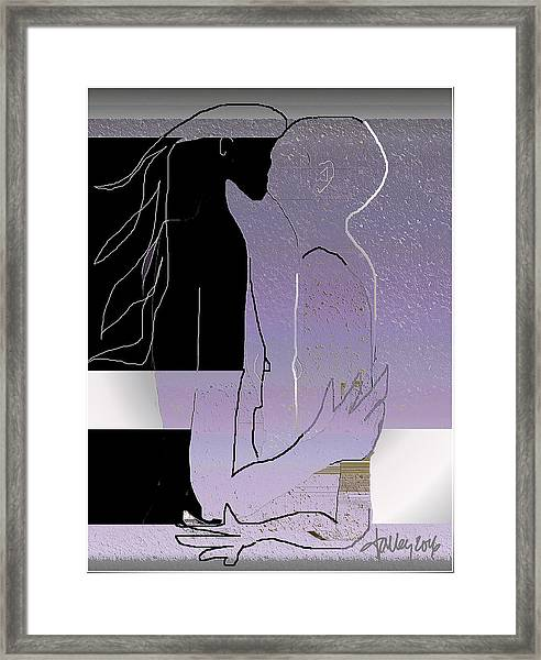 Framed Print featuring the digital art Farewell Kiss by Larry Talley