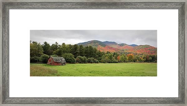 Farewell Red Barn Framed Print