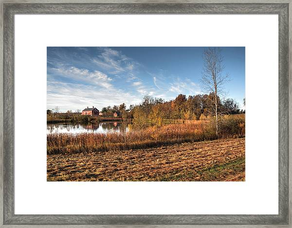 Farm Fall Colors Framed Print