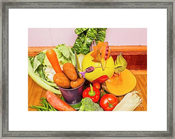 Farm Fresh Produce Framed Print
