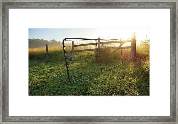 Farm Gate Framed Print