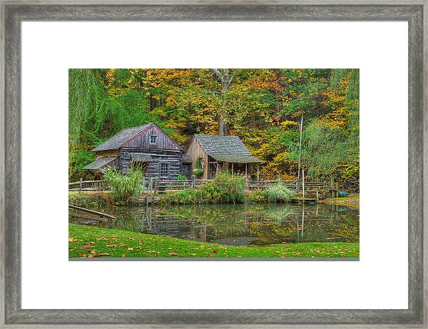 Framed Print featuring the photograph Farm In Woods by William Jobes