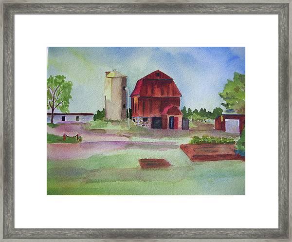 Farm On Hwy K Framed Print