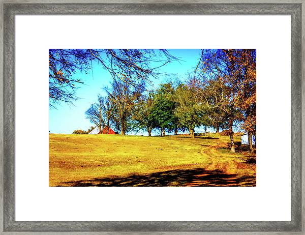 Farm Road - Fall Landscape Framed Print