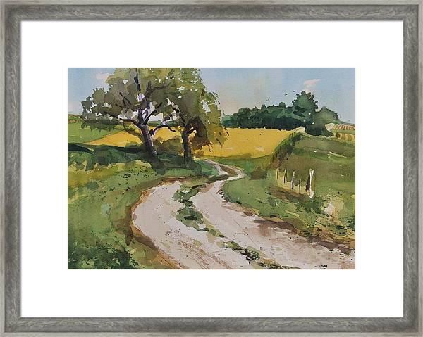 Farm Road Framed Print
