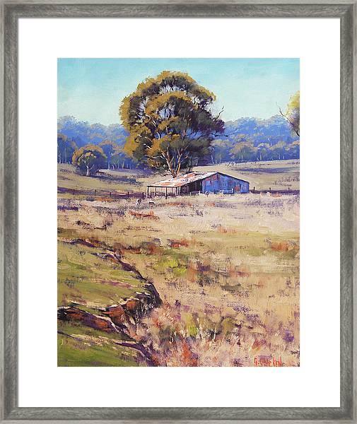 Farm Shed Pyramul Framed Print