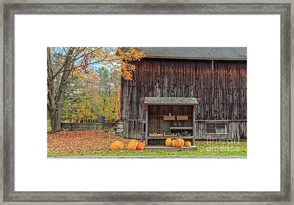 Farm Stand Etna New Hampshire Framed Print