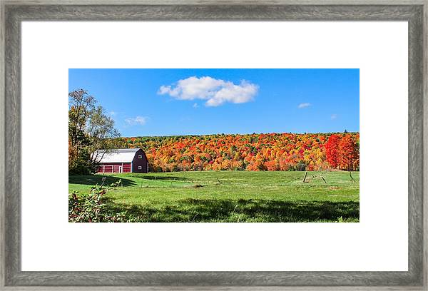 Farm View From Russellville Road Framed Print