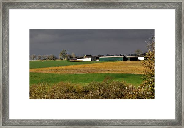 Framed Print featuring the photograph Farm View by Jeremy Hayden