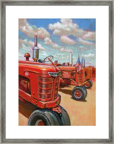 Farmall Tractor Framed Print