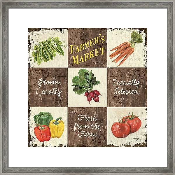 Farmer's Market Patch Framed Print
