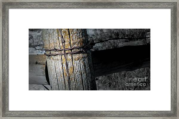 Farming Cross Framed Print