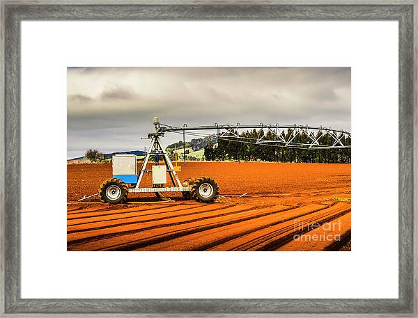 Farming Field Equipment Framed Print