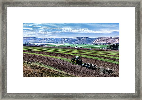 Farming In Pardise Agriculture Art By Kaylyn Franks Framed Print