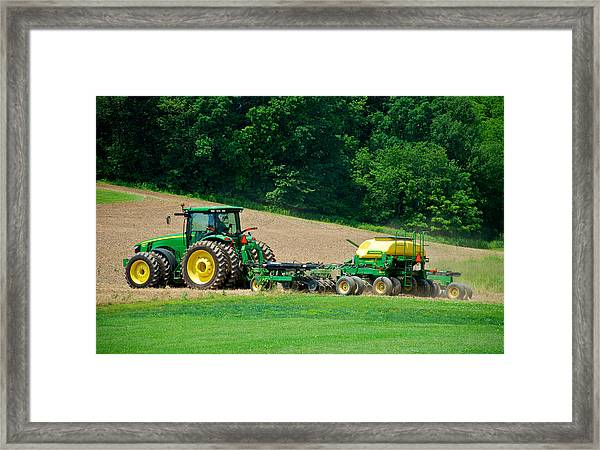 Farming The Field Framed Print