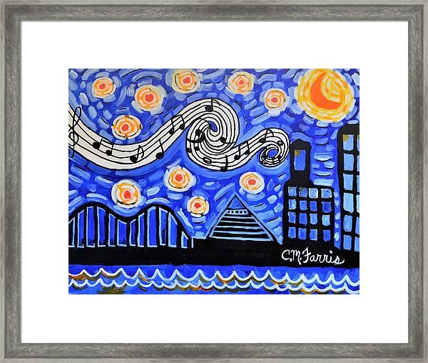 Memphis Nights Framed Print