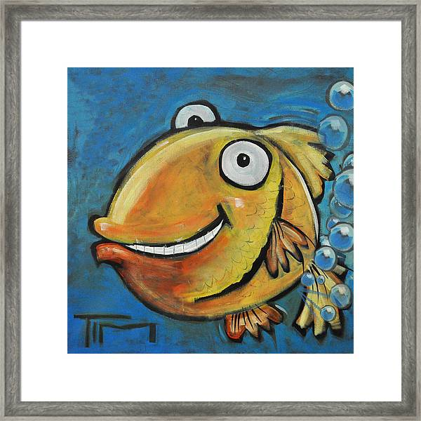 Farting Fish Framed Print