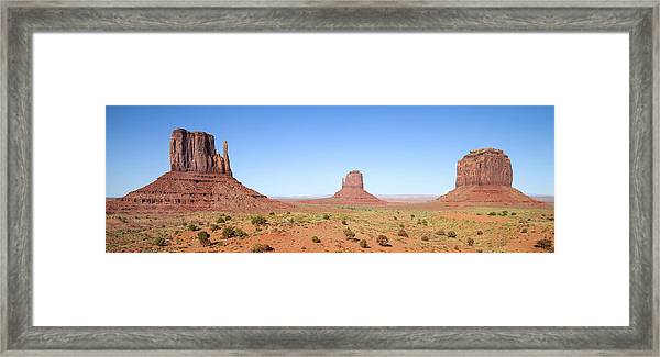 Fascinating Monument Valley Panoramic View Framed Print by Melanie Viola