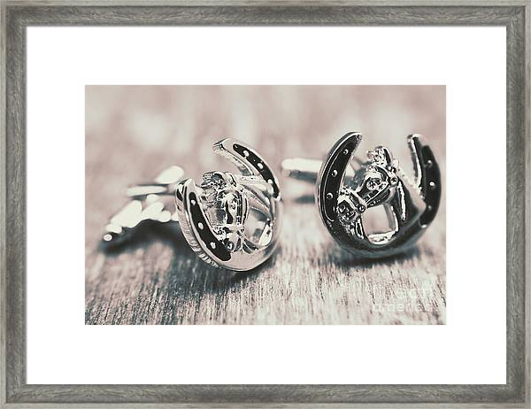 Fashion Links To The Melbourne Cup Framed Print