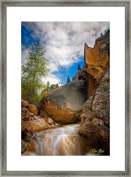 Fast-flowing Crazy Woman Framed Print