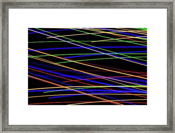 Fast Lanes Framed Print