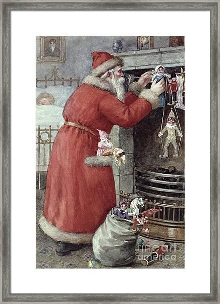 Father Christmas Framed Print