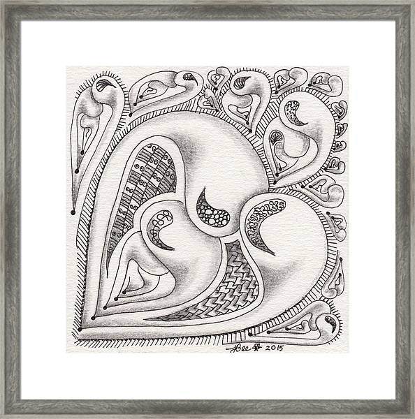 Father Heart Framed Print