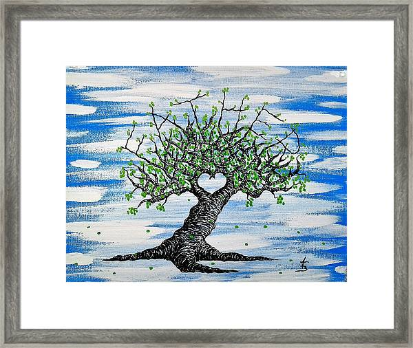 Framed Print featuring the drawing Father Love Tree by Aaron Bombalicki