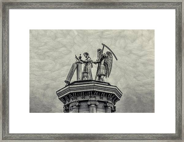 Father Time And The Maiden Framed Print