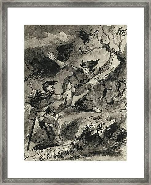 Faust And Mephistopheles On The Blocksberg Framed Print