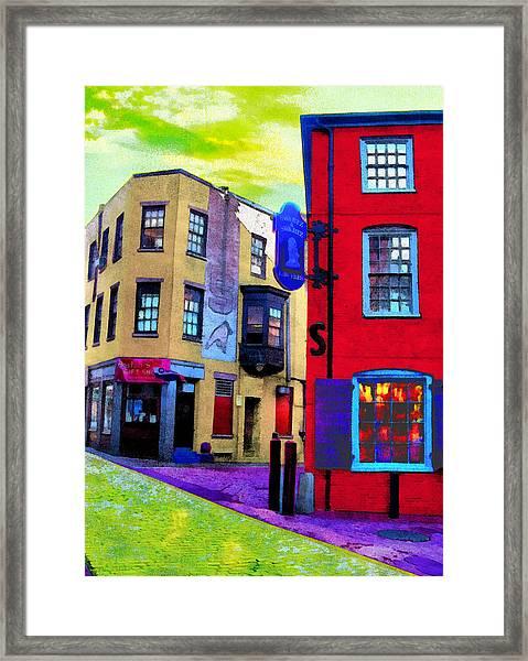 Faux Fauve Cityscape Framed Print