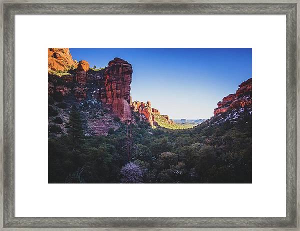 Fay Canyon Vista Framed Print