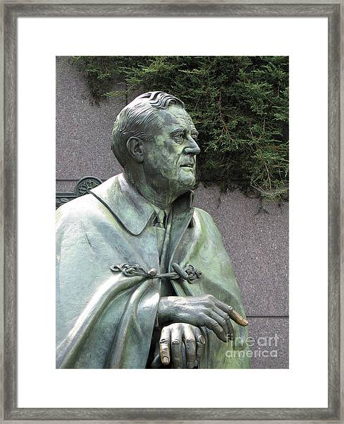 Fdr Statue At His Memorial In Washington Dc Framed Print