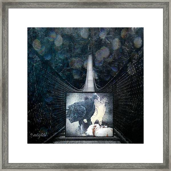 Fear Of Stairs Framed Print
