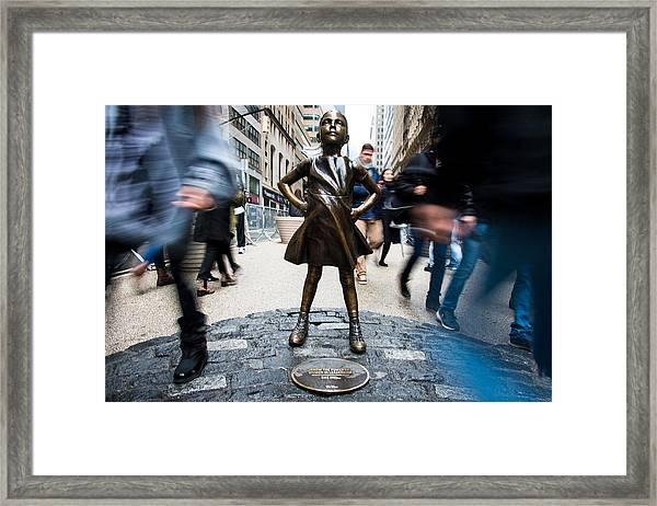 Fearless Girl Framed Print