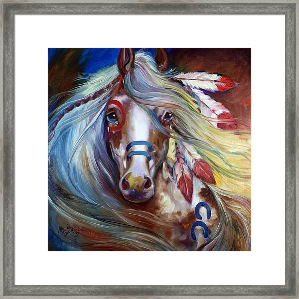 Fearless Indian War Horse Framed Print