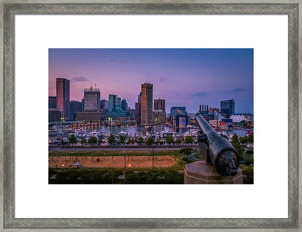 Framed Print featuring the photograph Federal Hill In Baltimore Maryland by Susan Candelario