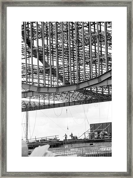 Federal Reserve Construction Framed Print
