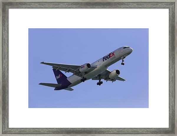 Fedex 757  Framed Print