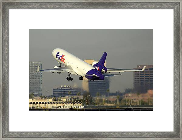 Fedex Express Mcdonnell-douglas Md-11f N631fe Phoenix Sky Harbor December 20 2015  Framed Print