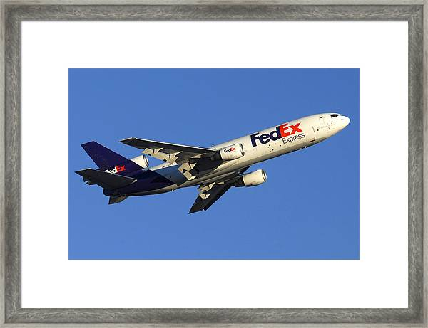Fedex Mcdonnell-douglas Md-10-10f N366fe Phoenix Sky Harbor December 23 2010 Framed Print